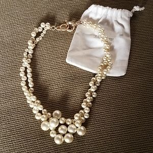 J CREW DOUBLE STRAND PEARL NECKLACE